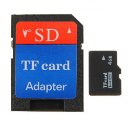 4GB Micro SDHC SD TF Secure Digital High Speed Flash Speicherkarte der Klasse 4 Adapter