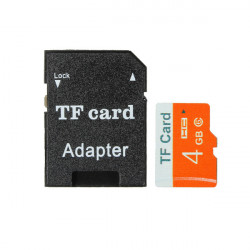 4GB Micro SD TF Secure Digital High Speed ​​flash-Minneskort Class 6 med Adapter