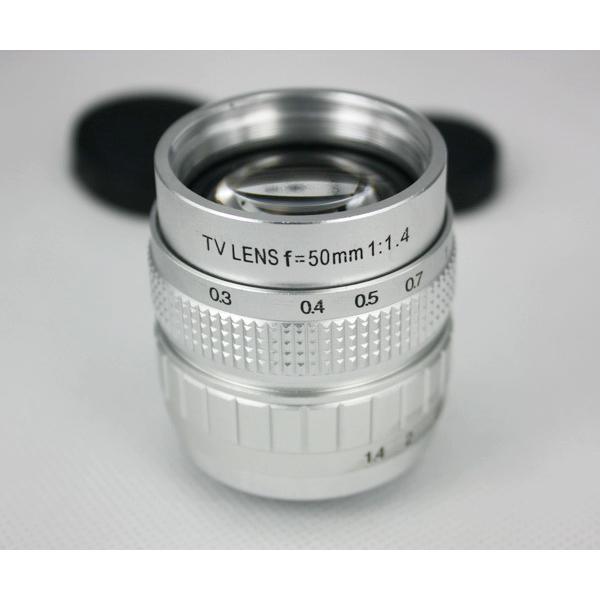 50mm Silber F1.4 CCTV TV Objektiv C Mount Für GF3 GF2 GF1 G3 EP1 2 EPL1 2 Foto & Kamerazubehör
