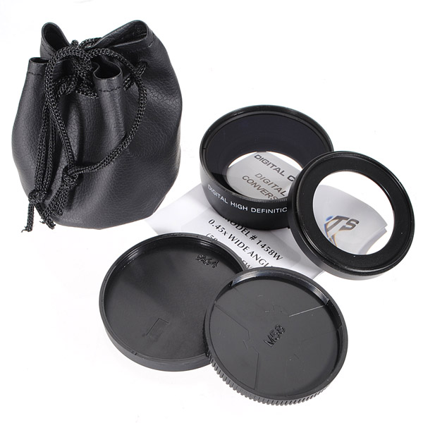 52mm 0.45x Vidvinkel & Macro HD Conversion Lens for Canon EOS Rebel Foto & Video