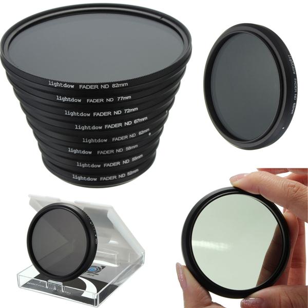 52mm till 82mm Justerbar Variabel Neutral Density ND2-ND400 Lens Filter för Canon Nikon Kamera Foto & Video