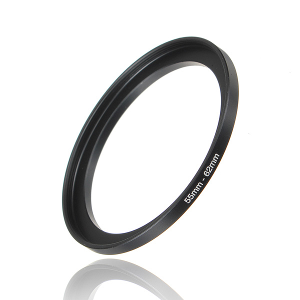 55-62mm Metal Step Up Lens Filter Ring Stepping Adapter Black Photography & Camera Acc