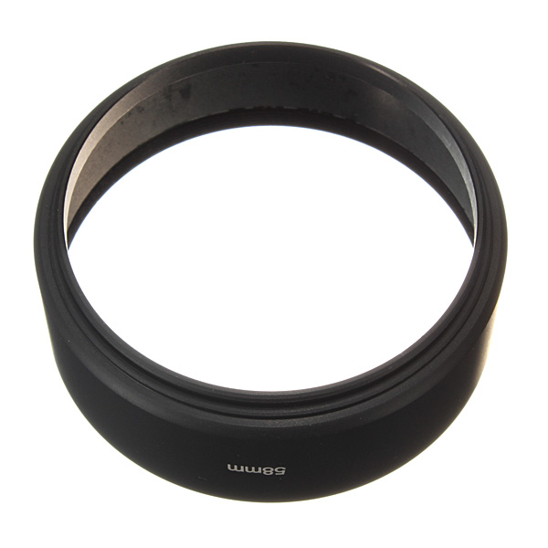 58mm Stativard Screw Mount Metal Modlysblænde til Canon Nikon Sony Pentax Foto & Video
