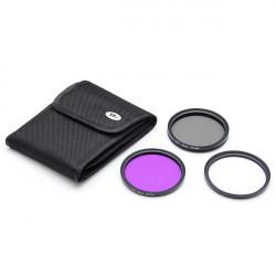 58mm UV FLD CPL Filter für Canon Nikon DSLR Mit Beutel Pol Filter Set