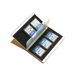 6 Slots Aluminum Storage Box SD/SDHC/SDXC/MMC Memory Card Case Holder Protector