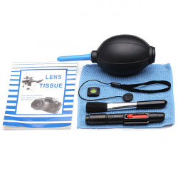 7 In 1 Camera Lens Cleaning Kit Hot Shoe Spirit Air Blower Lens Cloth Brush Pen Holder Paper