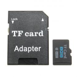 8GB Micro SD TF Secure Digital High Speed Hukommelseskort Class 6 med Adapter