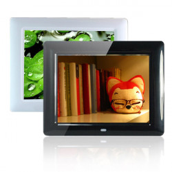 8 Inch HD TFT-LCD Digital Photo Frame Alarm Clock MP3 MP4 Player