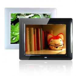 """8"""" HD TFT-LCD Digital Fotoramme Vækkeur Mp3 Mp4-Afspiller"""