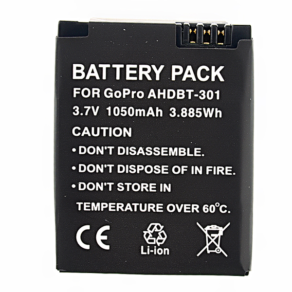 AHDBT-301 Camera battery for Gopro Hero 3,1050mAh ST-36 Photography & Camera Acc