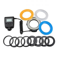 Aputure HL-48 48pcs Marco Circular Ring LED Flash Light For Canon Nikon Panasonic Olympus DSLR Camera