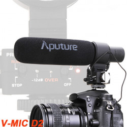 Aputure V-Mic D2 Sensitivity Adjustable Directional Condenser Shotgun Microphone For DSLR Camcorder