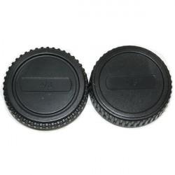 Camera Body And Rear Lens Cap For Olympus M4/3 E-P1 E-P2