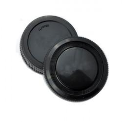 Selve Kameraet Cover Og Rear Lens Cap for Olympus OM-1 OM-2 OM-3 OM-4 OM-10 Sort