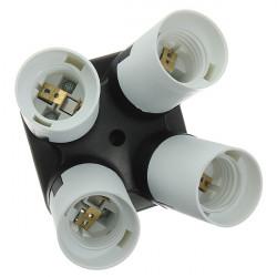 E27 Splitter helle Lampen Birnen Adapter Halter 4 in 1