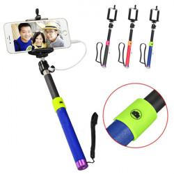 Ausziehbare Shutter Hand Selfie Strich Einbeinstativ für Handy Samsung iPhone6