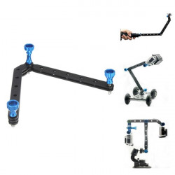 Förlängning Selfie Arms Hjälm Mount med Skruv för GoPro 4 3 2 1 3 Plus SJ4000 Xiaomi Yi Kamera