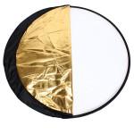 FOTGA 110cm Foto Hopfällbar 5 i 1 Ljusreflektor Kit 43 Tum för Studio Flash Foto & Video
