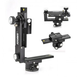 FOTOMATE Pro Panorama Kit Stativ Hoved Gimbal Bracket Plate Rail Slider