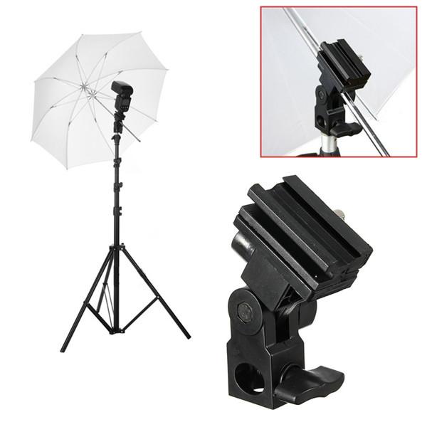 Blitzschiene B Schuh Regenschirm Halter Schwenker Licht Standplatz für Canon Nikon Yongnuo Foto & Kamerazubehör