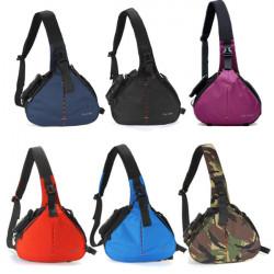 Fly-Leaf Fashion Shoulder Messenger Camera Case Bag Large Size