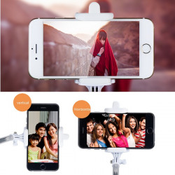 Handheld Selfie Monopod Telescopic Pole Bluetooth Remote For iPhone