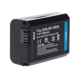 Höjd Kapacitet NP-FW50 7.2V 750mAh Li-ion Batteri för Sony