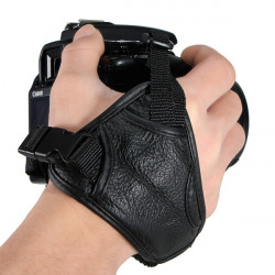 Leather Kamera Håndledsrem Triangle Hand Grip for Canon 60D 550D 500D