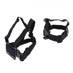 Model B Chest Belt Strap and Model A Head Strap For GoPro 2 3 4 3 Plus SJ4000 Xiaomi