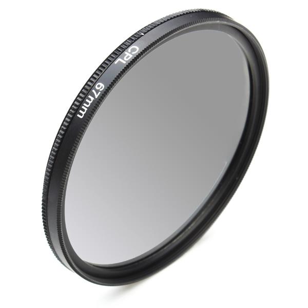 Neutral 67mm CPL Filter Cirkulärpolariserande för DSLR Kamera Foto & Video