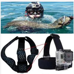 Anti Rutsch elastischen Kopfband Stirnband Einfassung für GoPro HD 1/2/3/3 + Kamera