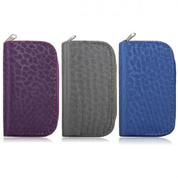 Nylon SDHC MMC Micro SD Memory Card Storage Bag Wallet Dots Pattern