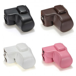 PU Leather Camera Case Cover Bag For Samsung NX2000 20-50mm Lens