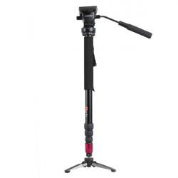 Pcyche 3202 Legering Unipod Tre Ben Fot Stativ Video Monopod för DSLR Camer