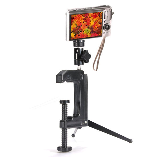 Bärbar Vridning Clamp Tripod för Kamera Videokamera DSLR Foto & Video