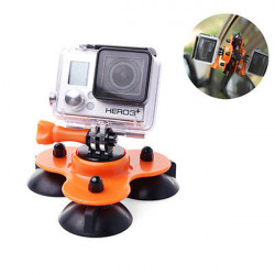Removable Low Angle Car Suction Cup Mount For Gopro HD Hero 1/2/3/3+ Accessories