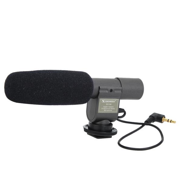 SG-108 Stereo Shotgun Mikrofon til Videokamera Kamera Foto & Video