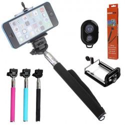 Selfie Einbeinstativ Ausziehbare Handheld Halter mit Bluetooth Fernbedienung Auslöser für Mobiltelefon Kameras
