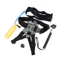 Selfie Monopod Tripod + Adapter + Float Bobber Stick + Chest Belt Hoved Strap for Gopro Hero 4 3 HD SJ4000 Xiaomi Yi Sport Kamera