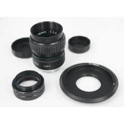 Sony 25mm F / 1.4 C Mount CCTV Kamera Objektiv Kit