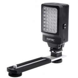 TOPTEC DV35 35 LED Video Light With Mounting Bracket For DSLR Camera