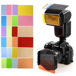 Universal Speedlite 24 Colors Filter For Canon Nikon Pentax Sony Flash