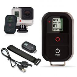 Wireless WiFi Fjernbetjening Fjernudløser med Ladekabel til GoPro Hero 3/4 Plus / 3 HD Kamera Videokamera