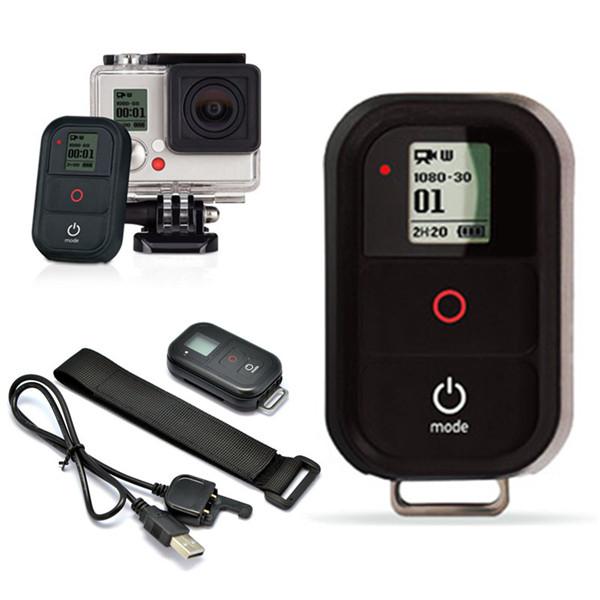 Trådlös WiFi Fjärrkontroll Fjärrutlösare med Laddningskabel för GoPro Hero 4/3 + / 3 HD Videokamera Foto & Video