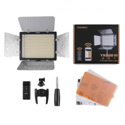 Yongnuo YN300 III 5500K CRI95+ Pro LED Video Light With Remote Control Power Adapter