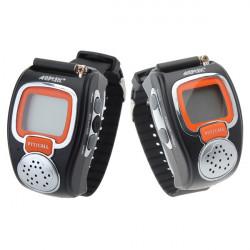 008 0.5W Two Way Radios Sport Uhr Mini Walkie Talkie Pair