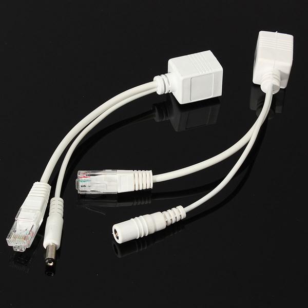 10 / 100M IEEE802.3at POE Power Splitter Kabel til IP-kameraer Sikkerhedssystem & Overvågning