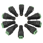 10 Pcs In 1 5.5 x 2.1 mm DC Power Female Jack Connector Cable Adapter Security System & Protection
