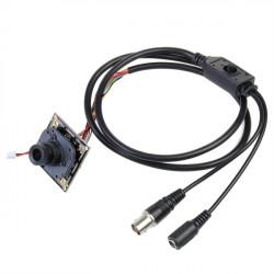 """1200TVL 1/3"""" 3.6mm IR Cut Mini CCTV Kamera mit Connect Cable"""