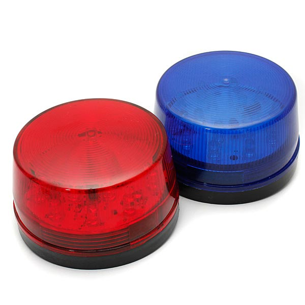 12V LED Security Alarm Strobe Signal Warning Lamp Blue Red Flashing Light Security System & Protection